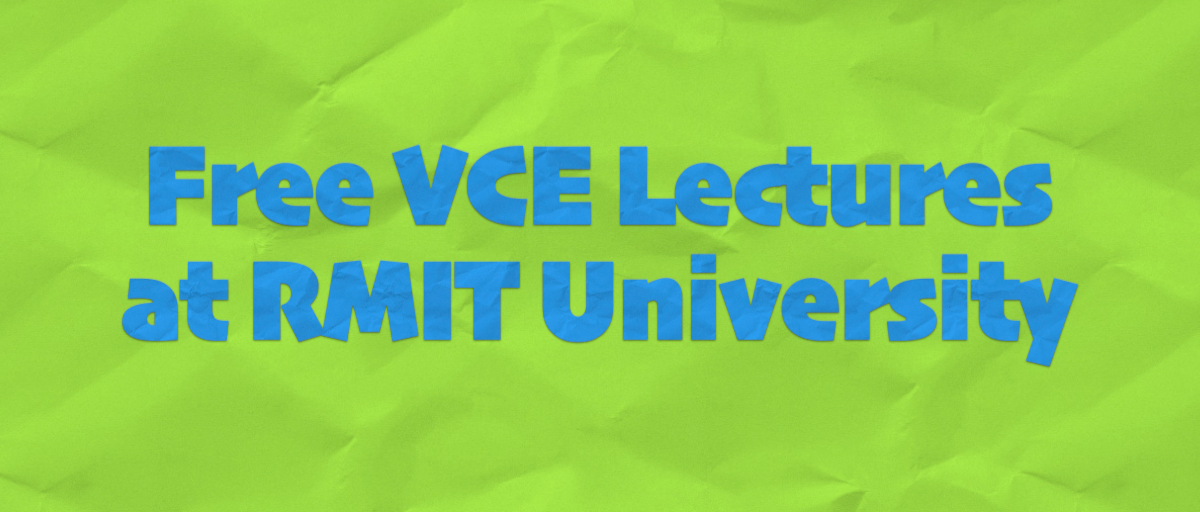 Free VCE Lectures – Pathways